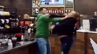 Drunk Couple Starts a Fight They Can't Win