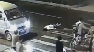 Suicidal Chinese Woman Gets Run Over Twice In 2 Minutes