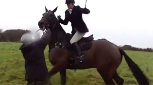 Fox Hunter Whips The Hell Out Of Protester