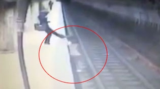 Romanian Woman Gets Pushed In Front Of A Train By A Stranger