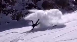 Skier Becomes a Human Fidget Spinner