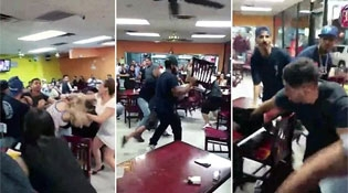 All Out Brawl Breaks Out in a Taco Restaurant